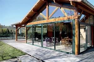 veranda bois modeles de verandas a ossature bois With veranda sur terrasse bois