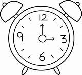 Clock Outline Alarm Coloring Pages sketch template