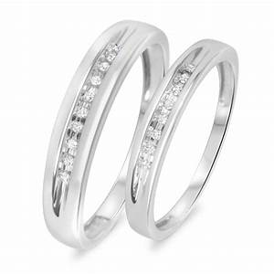 1 10 carat tw diamond his and hers wedding rings 14k With his and hers white gold wedding rings