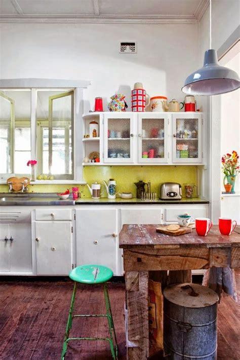 cuisine boheme déco cuisine le style rétro et vintage côté maison