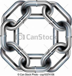 Seamless Chain Link Border Stock Illustration - Instant ...