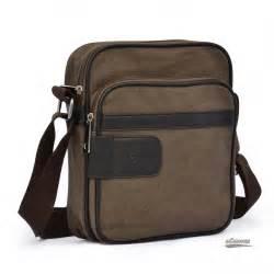 retro business bag canvas mens bag black coffee e
