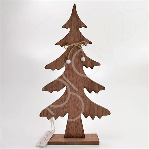 wooden christmas tree home decoration xmas standing decor