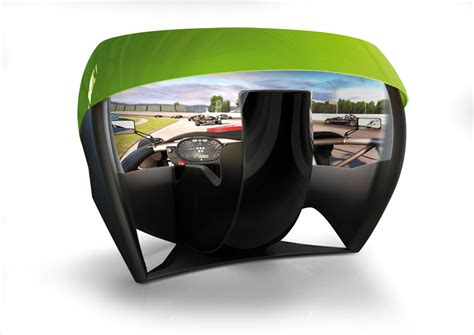 Motion Simulation Offers 180-degree Display Gaming Cockpit