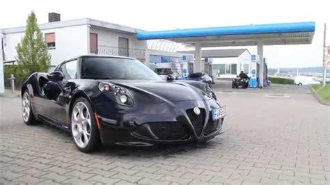 Alfa Romeo 4c Black Startup And Acceleration Loud Sound