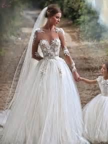robe de mariage aliexpress acheter illusion décolleté tulle manches longues robes de mariée avec appliques