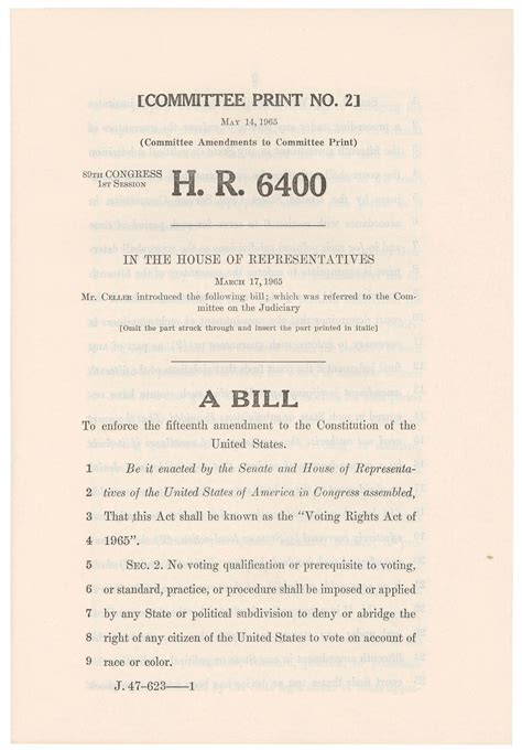 voting rights act  house  representatives