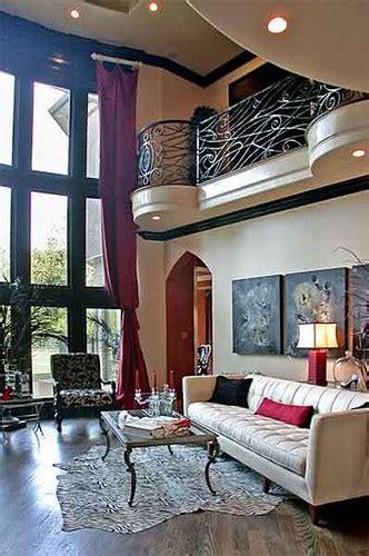 contemporary gothic living room  black  white
