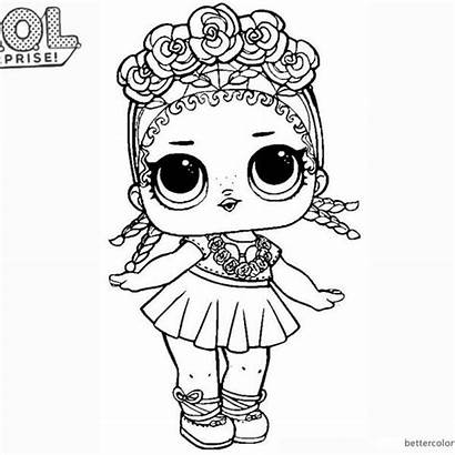 Lol Coloring Pages Doll Surprise Mermaid Cool