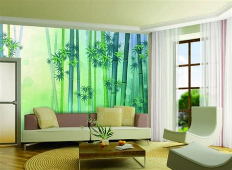 simple wall painting designs for living room green colou