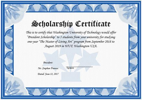 scholarship certificate template scholarship certificate www pixshark images galleries with a bite