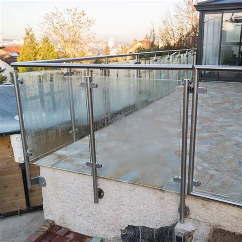balustrade terrasse ext 233 rieure verre pose anglaise inoxdesign