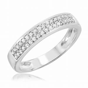 1 2 ct tw diamond his and hers wedding rings 14k white With his and hers white gold wedding rings