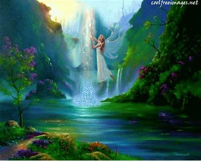Animated Angels God Angel Waterfall Animation Places