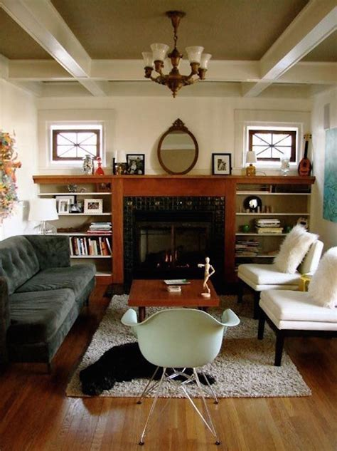 craftsman living room modern decor bungalow mix interior rooms designs hybrid fireplace fleet mixing apartment fireplaces inspire mid furniture styles