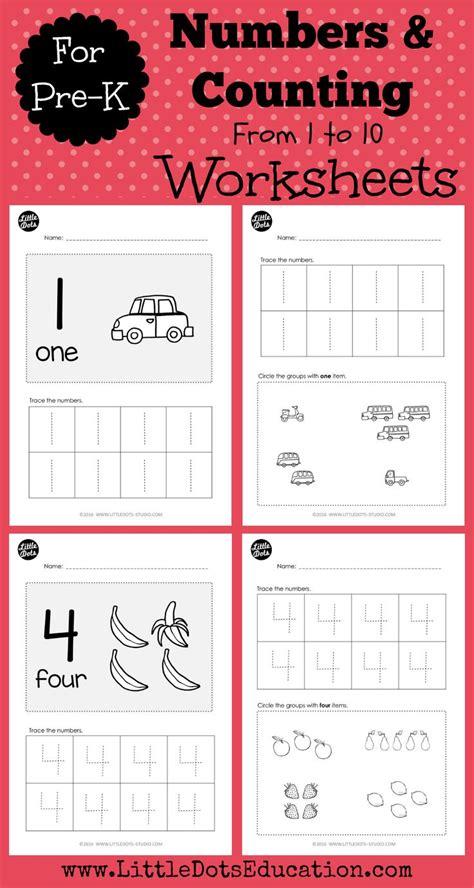pre  numbers    worksheets  activities