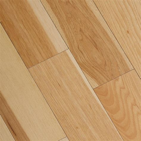 wooden floor sles home legend wire brushed natural hickory 3 8 in t x 5 in wide x varying length click lock