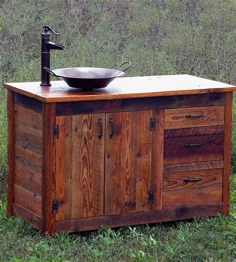 Reclaimed Wood Bathroom Vanity  Home Furniture The