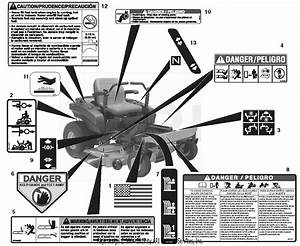 Ariens 915149  000101 -   Zoomxl 54  24hp Kawasaki  54 U0026quot  Deck Parts Diagram For Decals