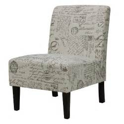 cortesi home chicco armless accent chair script furniture