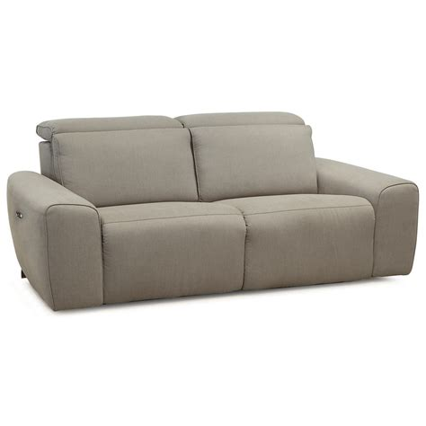 Contemporary Sofa Recliner by Beaumont Contemporary Sofa Power Recliner With Power