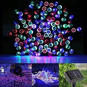 Led Lichterkette Draußen : le led rgb solar lichterkette 17 meter wasserdicht 100 leds rot gr n blau 1 2 v ~ Orissabook.com Haus und Dekorationen