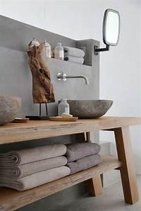 Waschtischplatte Holz Rustikal : beton und holz waschbecken im bad interior inspiration pinterest waschbecken b der und holz ~ Sanjose-hotels-ca.com Haus und Dekorationen