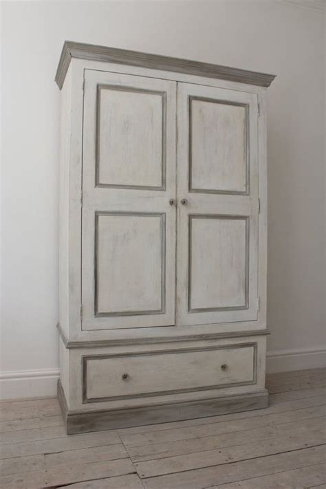 shabby chic pine wardrobe double pine wardrobe painted in a shabby chic style with annie sloane old white paris grey and
