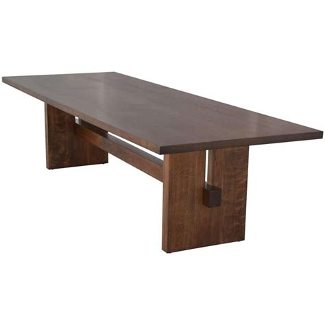 Black Walnut Trestle Table, Custom Made By Petersen