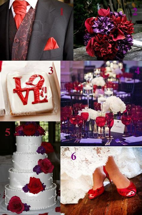 43 Best Images About Plum And Red Wedding On Pinterest Red