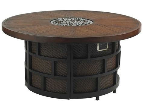 round gas fire table tommy bahama outdoor ocean club resort aluminum 54 39 39 round