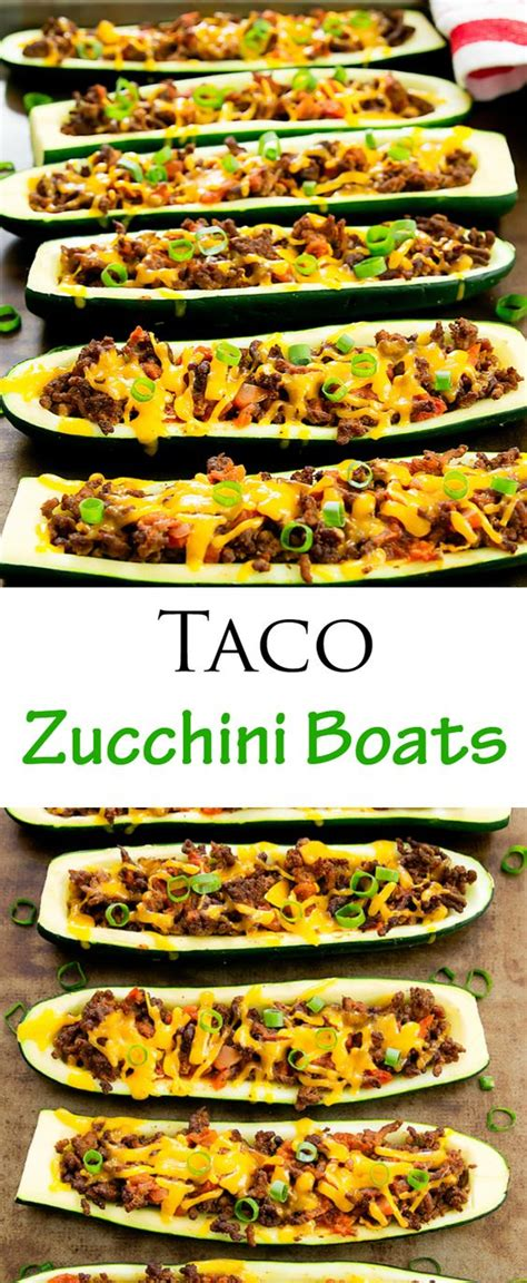 Taco Boats Low Carb by Taco Stuffed Zucchini Boats Recipe