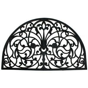 Wrought Iron Doormat by J M Home Fashions Wrought Iron Half Rubber Doormat