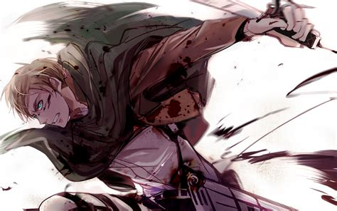 shingeki  kyojin erwin smith wallpaper  background