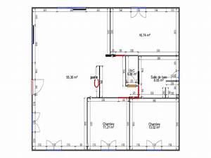 plan d39une maison de 100m2 plain pied 8 messages With plan de maison plain pied 100m2