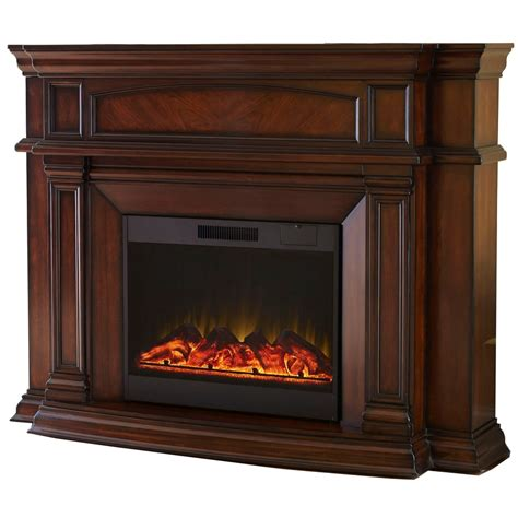 allen electric fireplace shop allen roth 62 in w 4 800 btu mink wood wall mount