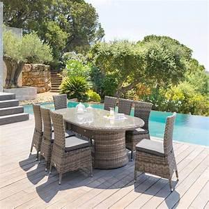 Table De Jardin Ovale : table de jardin ovale moor a terre d 39 ombre hesp ride 8 places ~ Teatrodelosmanantiales.com Idées de Décoration