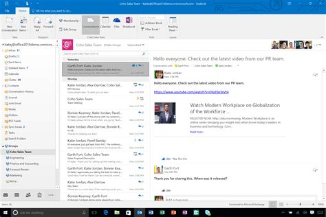 Office 365 Outlook New Features by Microsoft Outlook 2016 S Groups Feature Could Kill Email