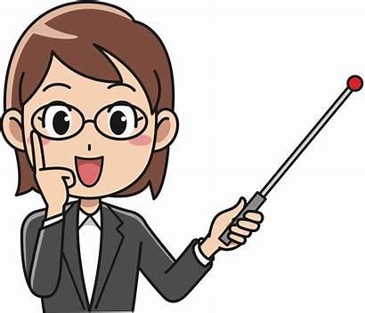 Teacher Clipart Female Instructor Clip Cartoon Lady