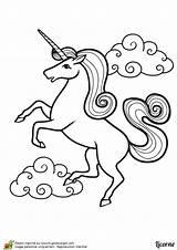 Dessin Colorier Belle Nuages Einhorn Licornes Escargot Hugolescargot Unicorns Sirene Ccm2 Ausmalen Bienen Regenbogen Zeichnen Childrencoloring Danieguto Gros sketch template