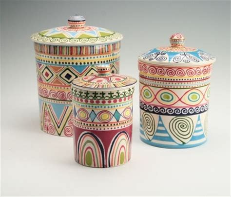 colorful kitchen canisters sets 17 best images about pottery canisters on