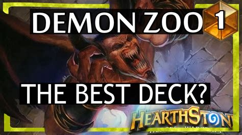 Warlock Zoo Deck August 2017 by Hearthstone Zoo Warlock The Best Deck 1