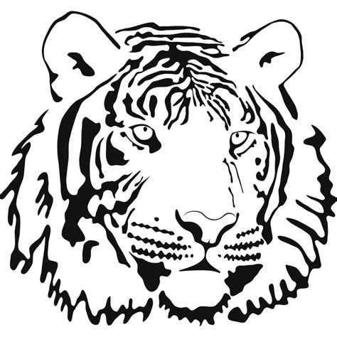 tiger outline drawing clipart