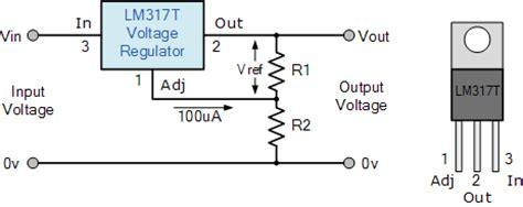 lm317 adjustable voltage regulator electrobist
