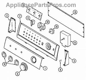 Parts For Crosley Cde8000w  Control Panel Parts