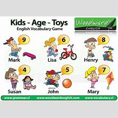 Name, Age, Favourite Toys  English Vocabulary Game