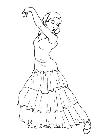 Kleurplaat Spaanse Jongens Danser by Comment Dessiner Une Danseuse De Flamenco A Faire