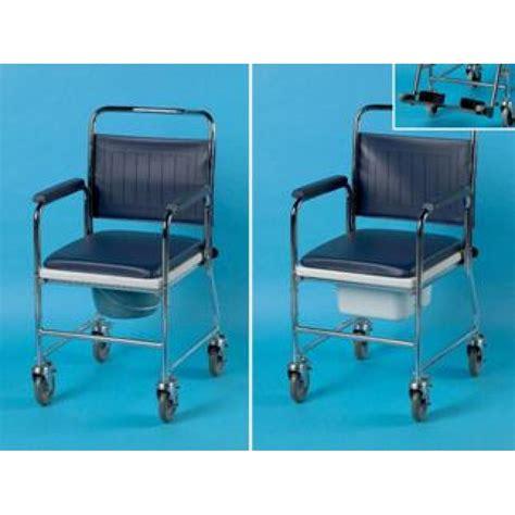 chaises percées de toilette chaise percée de toilette sur roues en acier days