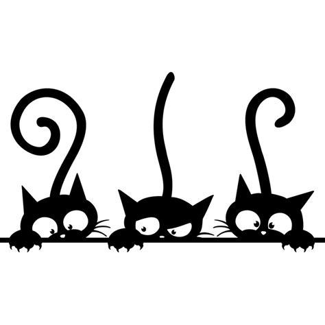 couleur pour une chambre d adulte sticker triplés de chats