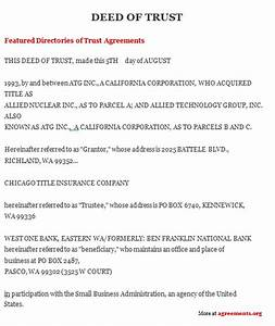 trust agreement template deed of trust agreement sample With trust documents definition
